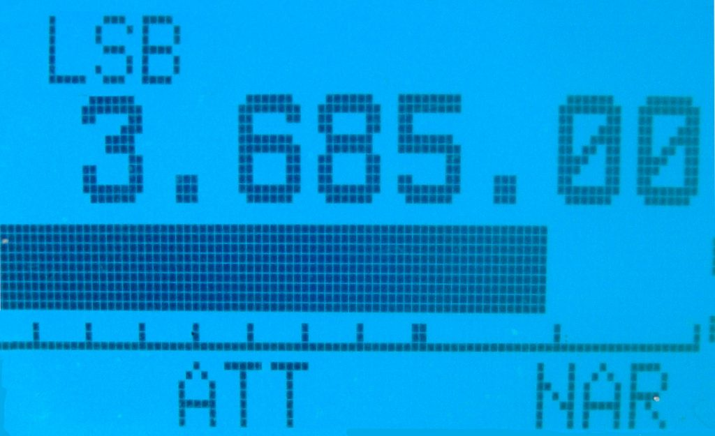 Radion näyttö.