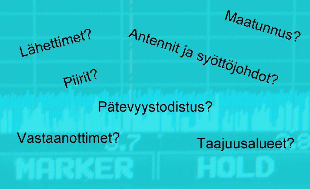 Radioamatööritutkinnon aiheita.