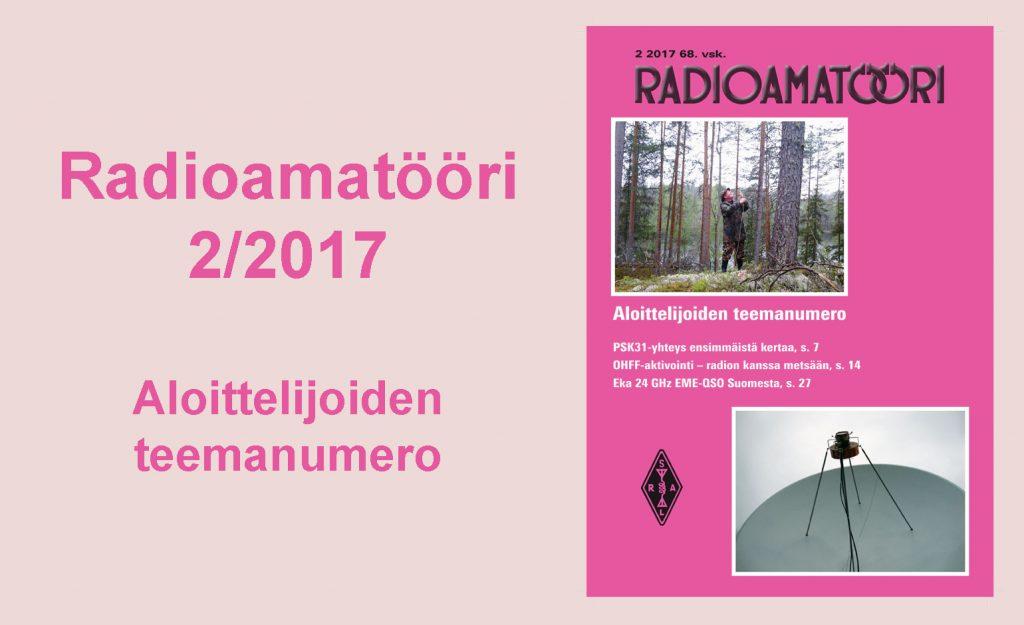 Radioamatööri-lehti 2/2017.
