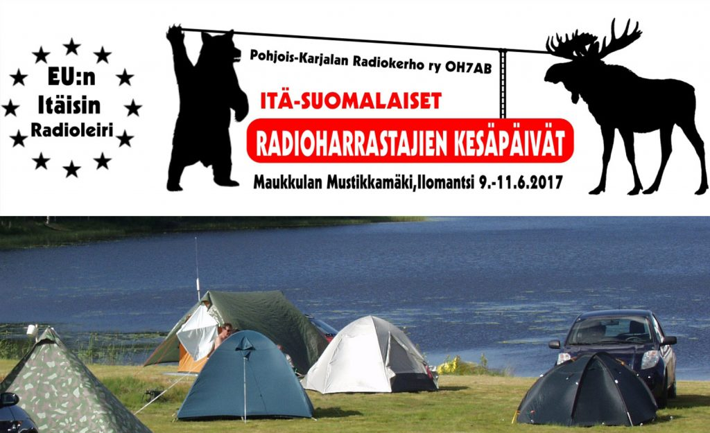 Taphtuman logo ja telttoja