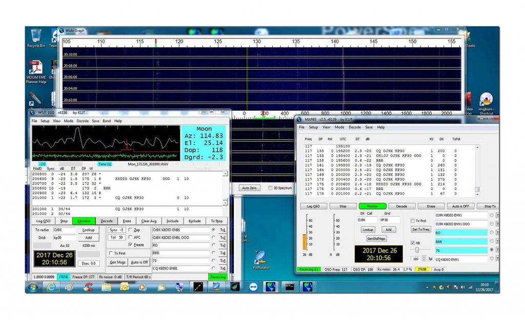 EME-ohjelma tietokoneruudulla.