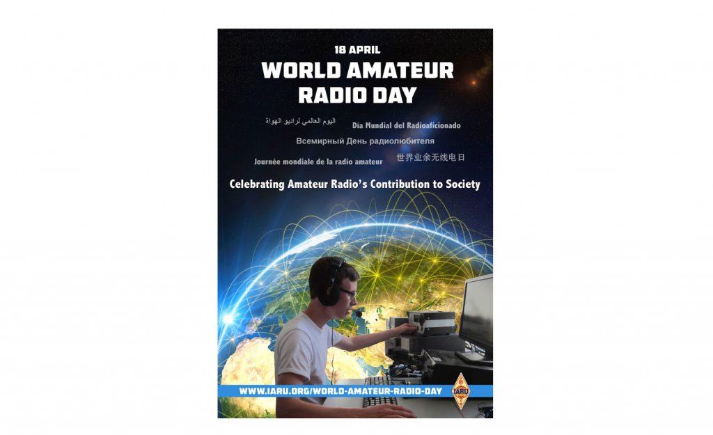Mies radioamatööriasemalla.